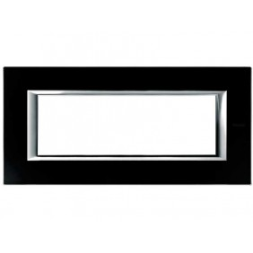Bticino Axolute Plate 6 modules Glass Black...