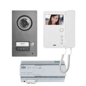 Urmet Single-family kit with Mikra2 and Mìro 1784/761 handset monitor