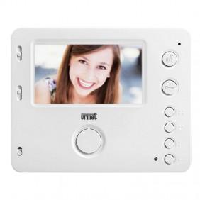 """Portier vidéo Urmet Miro 2 Voice avec haut-parleur 4,3"""" mains libres Blanc 1750/16"""