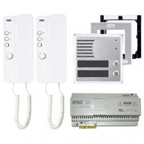 2VOICE two-family Urmet intercom kit with Mirò and Sinthesi 1183/602