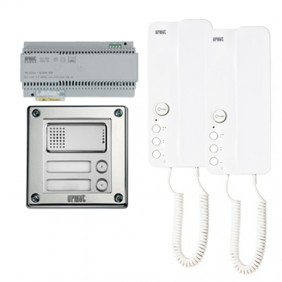Kit Intercom two-family, Urmet Sinthesi Steel...