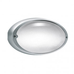 Lombardo Airy grey oval ceiling lamp E27 IP54...