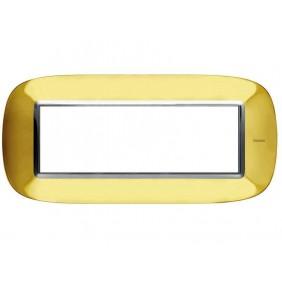 Bticino Axolute Placca 6 moduli oro lucido...