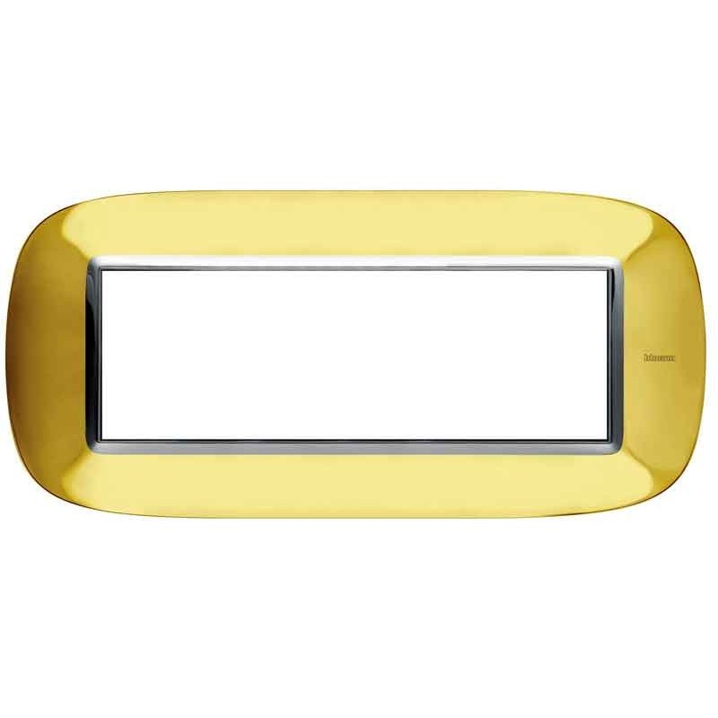Bticino Axolute Placca 6 moduli oro lucido HB4806OR