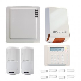 Kit Comelit burglar alarm with central Vedo 10, siren, 2 sensors, keyboard and contacts KITVEDO10EN