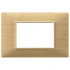 VIMAR PLANA PLAQUE 3 MODULES ASH