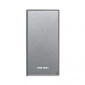 Single-Pole push button Ave Allumia System 44 1P 10A Illuminated 443005