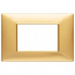 Vimar Plana placca 3 moduli colore oro opaco 14653.25