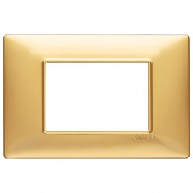 VIMAR PLANA PLAQUE 3 MODULES MATT GOLD