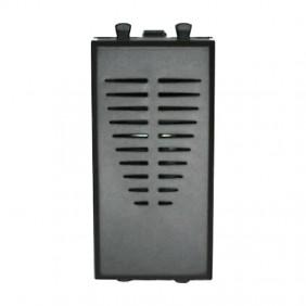 Ringtone Ave Tekla 230VAC black color 1 module 445029