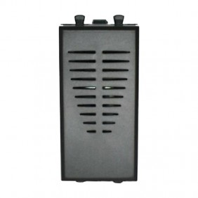 Ronzatore Ave Tekla 230VAC black color 1 module 445031