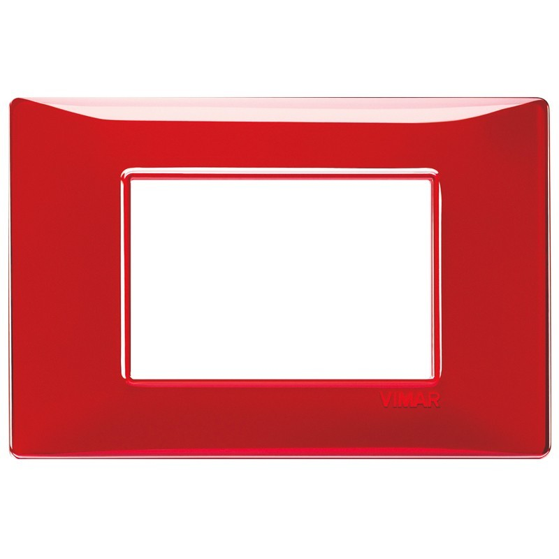 Vimar Plana placca 3 moduli colore rubino 14653.51