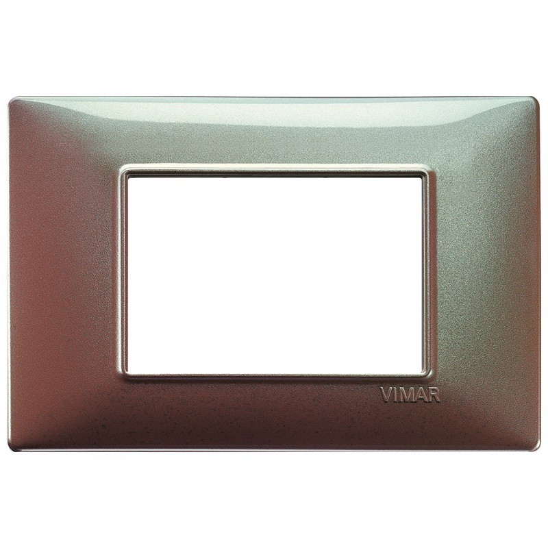 Vimar Plana placca 3 moduli colore marrone micalizzato 14653.23