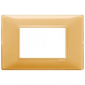 Vimar Plana placca 3 moduli colore Reflex ambra...