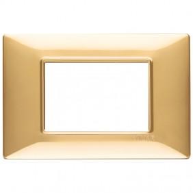 Vimar Plana placca 3 moduli colore oro lucido...