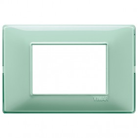 VIMAR PLANA PLAQUE 3 MODULES IN MINT