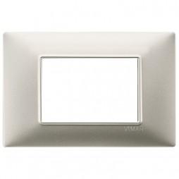 Vimar Plana placca 3 moduli colore nichel opaco 14653.21