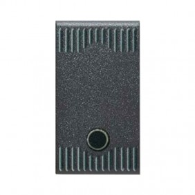 Single-Pole push button 10A that can be lighted for series civil Ave Noir System 45 45305G