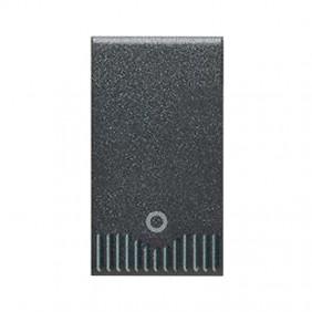 Single-Pole push button 10A for civil series Ave Noir System 45 45305