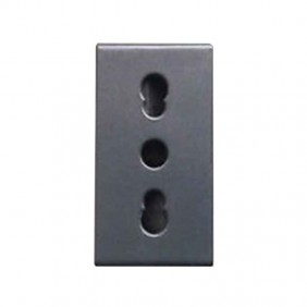 Electrical outlet bypass 10/16A for civil series Ave Noir System 45 45306/15TS