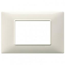 Vimar Plana placca 3 moduli colore bianco granito 14653.06