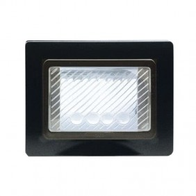Ave self-supporting watertight plate with IP55 membrane colour Black 44SP03GSL