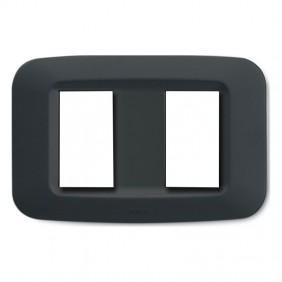 Plaque Ave in technopolymer Yes 45 2-gang grey...