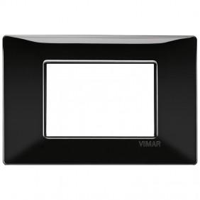Vimar Plana placca 3 moduli colore nero 14653.05