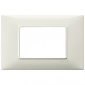 VIMAR PLANA PLAQUE 3 MODULES IVORY