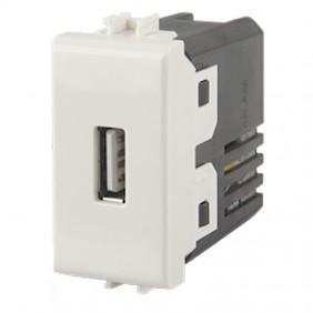 Caricatore USB 4box per Vimar plana bianca 2.1A  4B.V14.USB