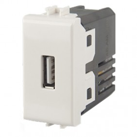 USB charger 4box for Vimar plana white 2.1 A...