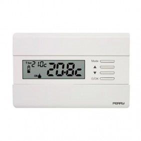 Perry Wall Thermostat White with display 1TPTE011B