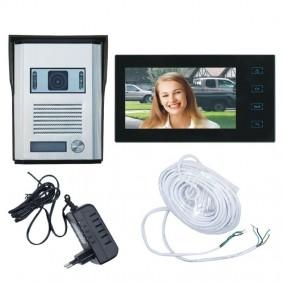 Kit Videocitofono Zodiac con telecamera e monitor 7 pollici 559578466