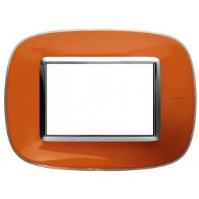 Bticino Axolute Plate 3 Modules Orange Liquid...