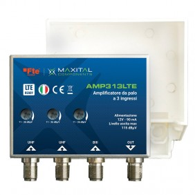 Amplificatore da palo FTE 3 Ingressi VHF/UHF/UHF AMP313LTE