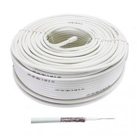 Cavo Coassiale TVSAT FTE 5mm in PVC Colore Bianco 100 Metri K120EE