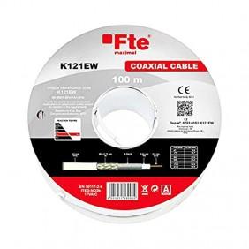 Cavo Coassiale TVSAT FTE 5 mm in PVC matassa da 100 metri K121EW