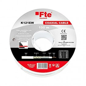 TVSAT Coaxial Cable FTE 5 mm in PVC skein by 100 meters K121EW