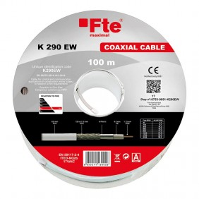 TVSAT Coaxial Cable FTE 6,8 mm in PVC skein by 100 meters K290EW