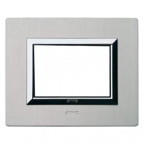 Plaque Ave Real System 44 Aluminium 3 modules...