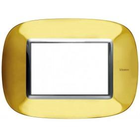Bticino Axolute Plate 3 Modules Glossy Gold...