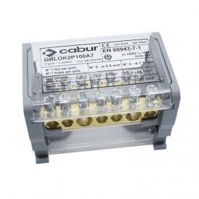 Morsetto di Distribuzione Cabur 100A 2P 1000VDC...