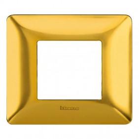 Placca Bticino Matix 2 moduli oro satinato...