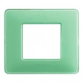 Placca Bticino Matix 2 moduli tè verde AM4802CVC