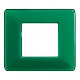 Placca Bticino Matix 2 moduli smeraldo AM4802CVS