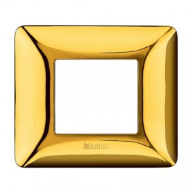 Placca Bticino Matix 2 moduli oro lucido AM4802GOR