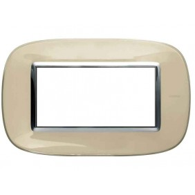 BTICINO AXOLUTE SWITCH PLATE 4-GANG IVORY...