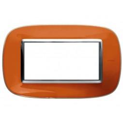 Bticino Axolute Placca 4 moduli arancio Liquid HB4804DR