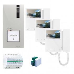 kit Videocitofono Trifamiliare Comelit 2 fili...
