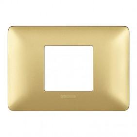 Placca Bticino Matix 2 moduli centrati gold...
